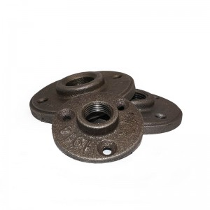 manufacturer of High Quality Malleable Iron Pipe Fitting Black Floor Flange Steel Pipe Flanges And Flanged Fittings