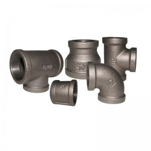 different types malleable iron black pipe fittings wholesale