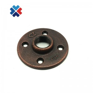 "3/4"" NPT Thread Floor Flange 4 Holes bronze Sandblast Threaded epoxy floor paint flange for decor"