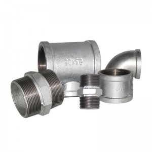bsp thread galvanised malleable iron pipe fittings manufacturers for oil & gas