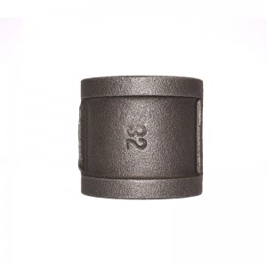 270 220 Malleable Iron Socket Coupling Black Finish Banded BSP NPT Threaded Cast Iron Fittings