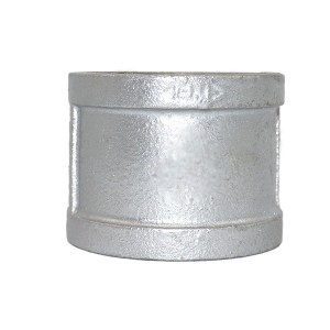 FM &UL  malleable iron pipe fittings EN standard BSPT thread galvanzied  sockets