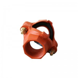 Ductile Iron alur Teknik Tee FM UL Approved Fire System Protection