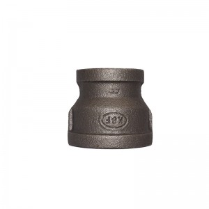 240 Malleable Iron Reducing Socket Black Finish Banded BSP NPT Threaded Cast Iron Fittings