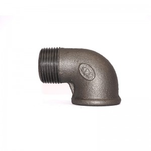 92 Malleable Iron Street Eblow MF Elbow Black Finish Banded BSP NPT Threaded Cast Iron Fittings