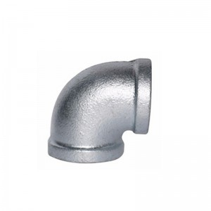 90 Malleable Iron Elbow Hot Galvanized Equal Banded BSP NPT Threaded Cast Iron Fittings