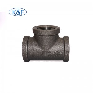 Banded GI Cast Iron Elbow Pipe Fitting hot sale NPT thread tee