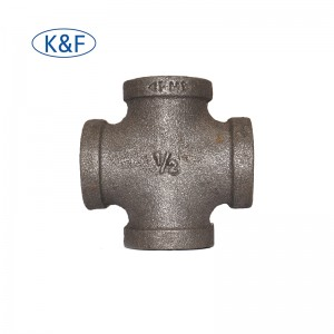 steel cross pipe fittings galvanized malleable cast iron fittings cross