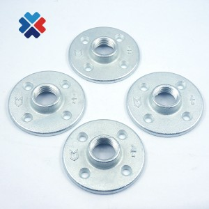 DIY Funiture Fittings Home Bar Decorative Floor Flange cold galvanized Industrial Style