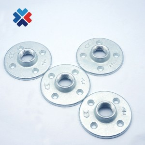 DIY Funiture Fittings Home Bar Decorative 4 holes Industrial Style Floor Flange