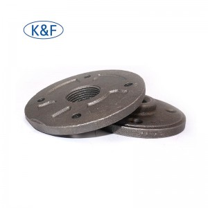 Black Floor Flange Decoration Fittings Industrial Style Deco Flange