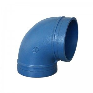 Blue Grooved 90°Elbow