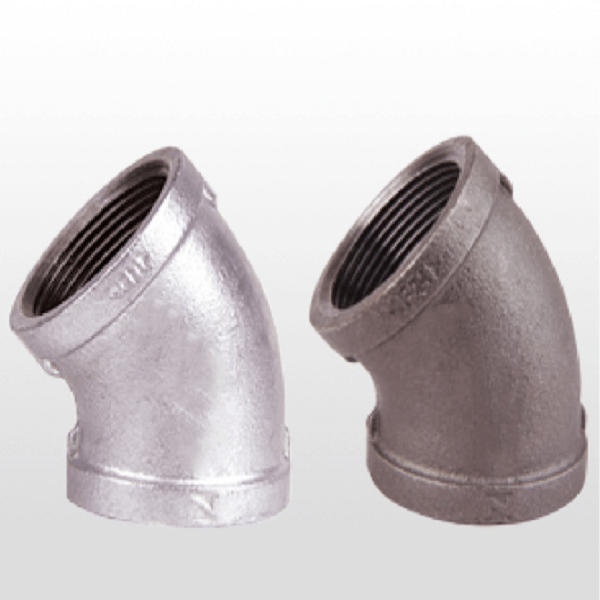 GI black Cast Iron Elbow Pipe Fitting galvanized gi fitting elbow
