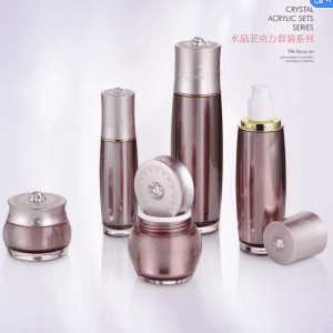 Popular Design for Electroplate Golden Glass Essential Oil Bottle Cosmetic Bottles