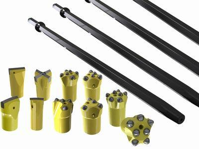 Button Bit Factory Directly supply Rock Drill Tools Hex22 Tungsten Carbide Taper Drill Rod – Kat