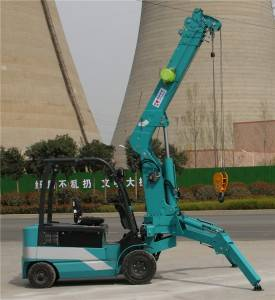 All-electric lithium battery wheeled crane