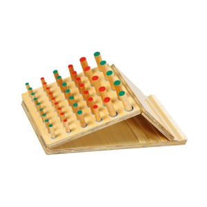 Wooden peg inserting board set