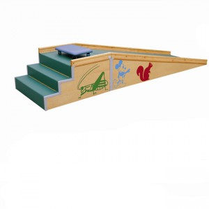 Children slide stairs