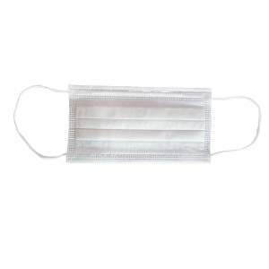 White Adult disposable protective mask (non-medical)