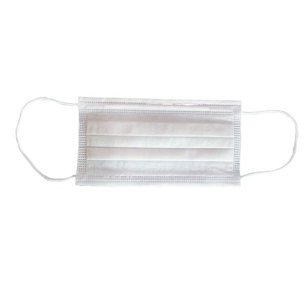 White Adult disposable protective mask (non-medical) Featured Image