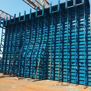 Formwork of plane wall in building construction