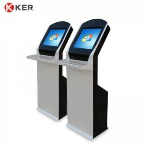 KER-T001A 17inch Information Inquiry Touch Screen Kiosk With Stainless Steel Keyboard With Tracking Pad