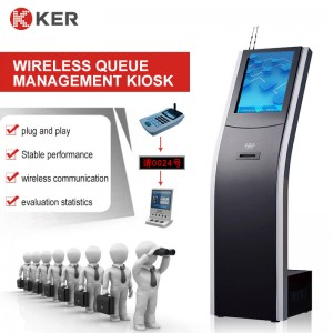 Wireless queue management kiosk