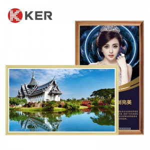 New Design 49 Inch Advertising Player Indoor Wooden Frame LCD Digital Signage