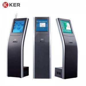 Self-Service Queue Kiosk 17 Inch Queue Management System Machine With Receipt Printer