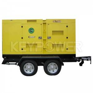 KEYPOWER Trailer Diesel Generator 250 kVA Genset With Cummins Engine