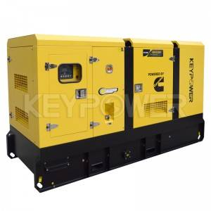 AC 380V Soundproof Diesel Generators 100kVA Powered By Cummins