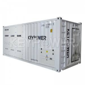 KEYPOWER 1600kVA Inductive load bank testing a generator