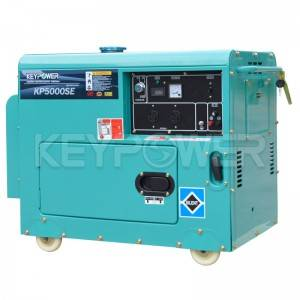 5000W Air-cooled Generator Set with Incorporated Fuel Gauge