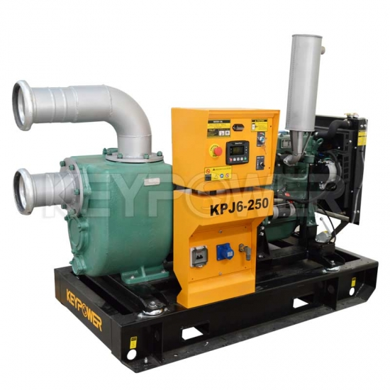"Open type  6"" Self-priming Pump set Technical Data Sheet For South Africa"