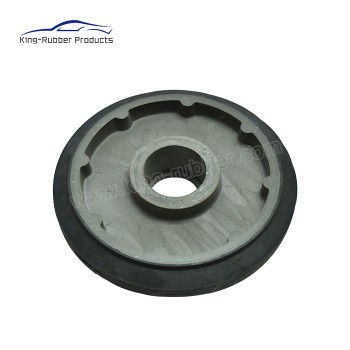 smooth pattern solid rubber tire cast iron core heavy load industrial caster wheel