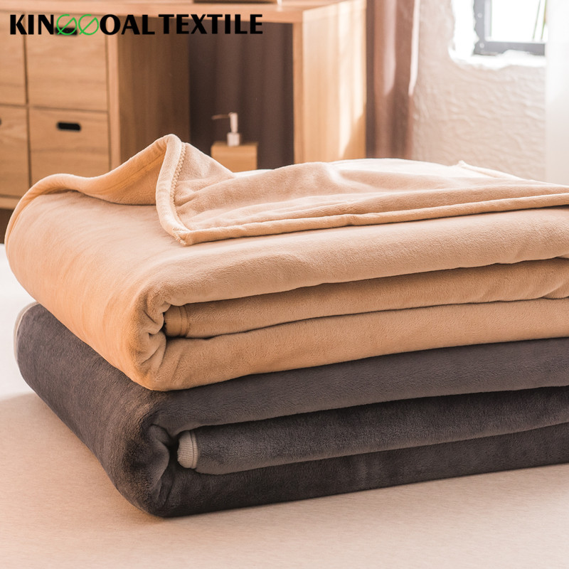 Super Soft 100% silk edge blanket for Travelling King Size colorful