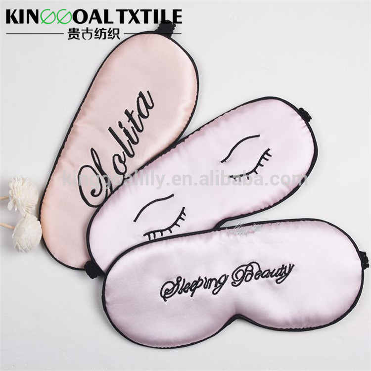 Soft Durable with Adjustable Strap Fashion Sleep satin eye mask