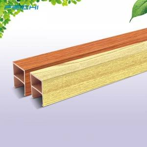 Chinese Wpc Decorative Pvc Ceiling Decorative Wood  50*90mm