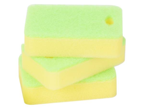 Light Green Sponge Scouring Pad With Hole Featured Image