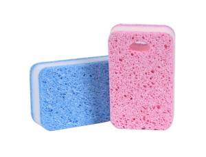 Three-Layer With Hole Sponge Scouring Pad