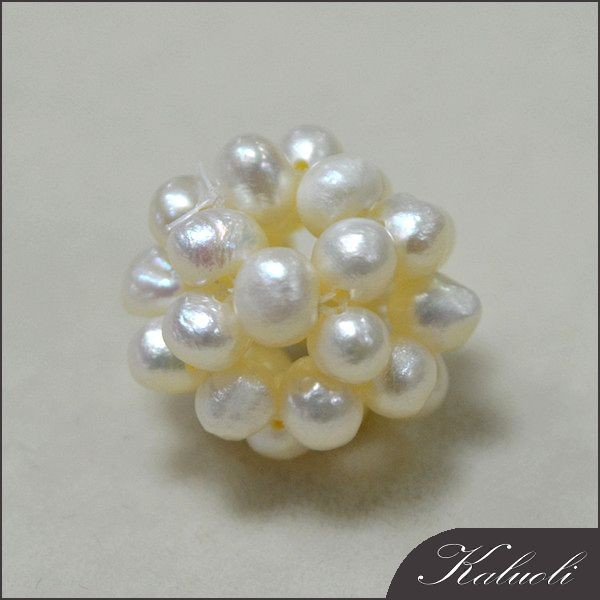 Handmade decoration ball with freshwater cotton pearl beads