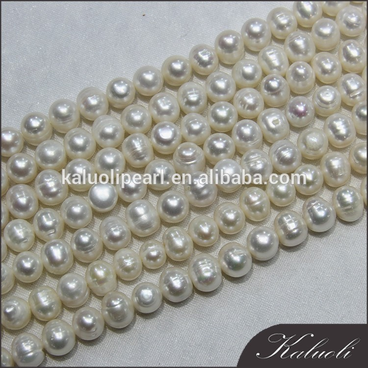 In bulk sale 10-11mm potato decoration pearl strands mala