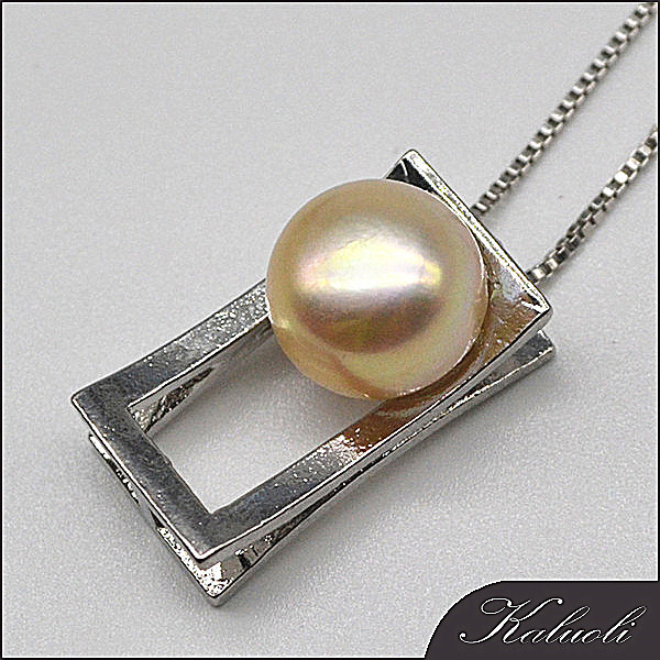 Stylish pendant necklace with AAA real pearl mounting for girl
