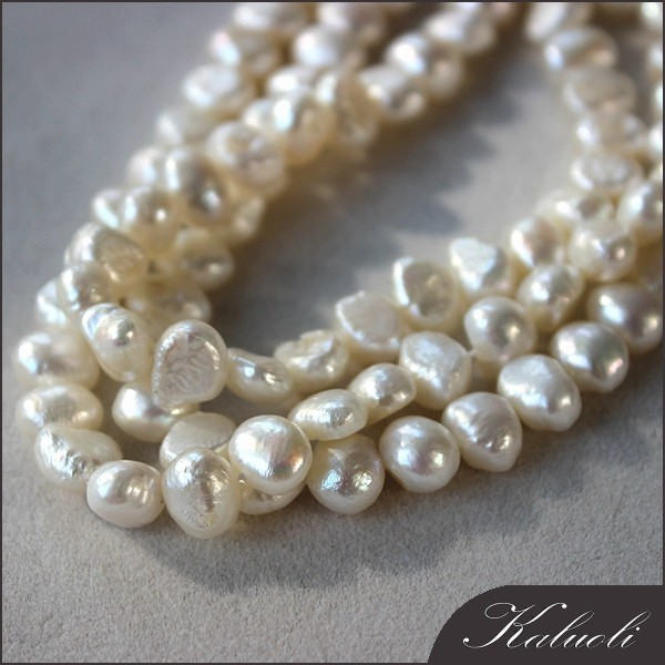 Wholesale freshwater pearls strand 8-9 baroque for making jewellery