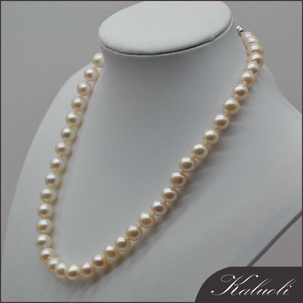 High quality 9 – 10mm round cheap price pearl necklace