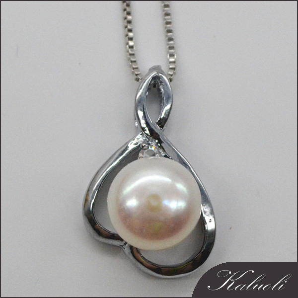 Jewelry in china cheap real freshwater pearl pendant mounting