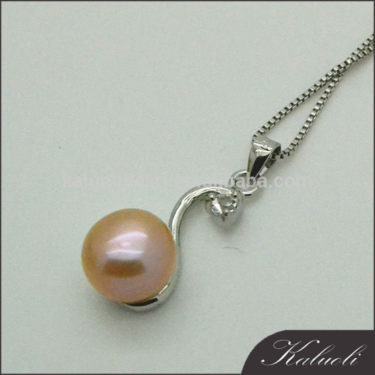10mm real half cut pearls pendant jewelry indian gold plated jewellery