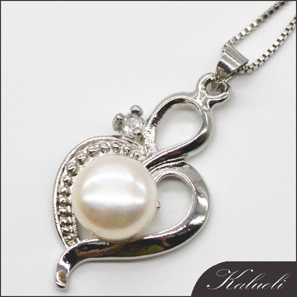 Chinese silver pearl antique jewellery pendant necklaces