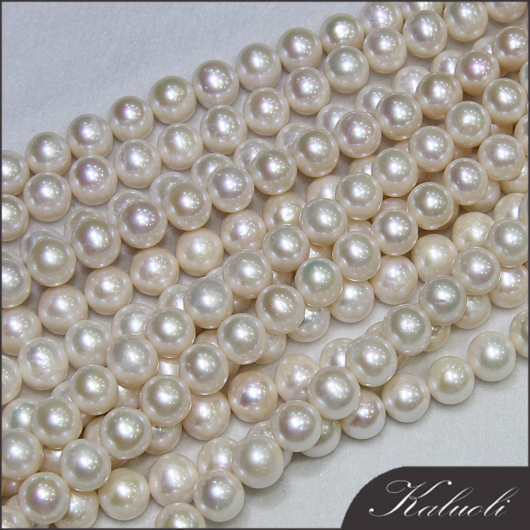 Aliexpress china 11-12 mm round fresh water natural pearl sale