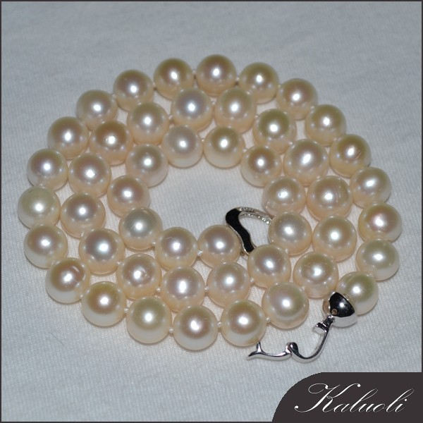 Traditional 9-10mm round ebay pearl necklace
